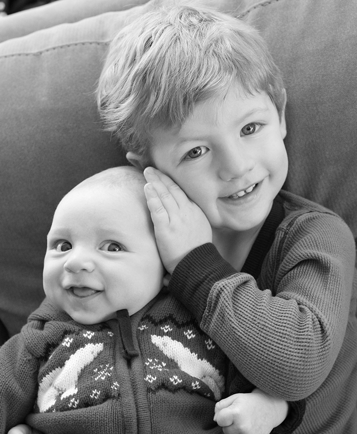 Brennan and Jack, 3 1/2 yrs old and 3 mos old