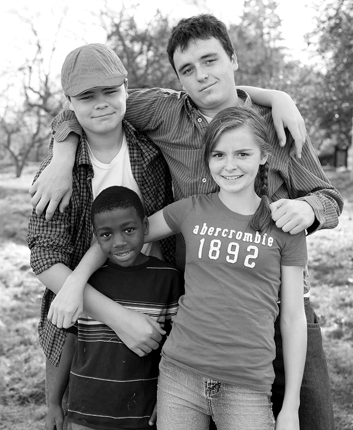 Gregg, Alex, Margaret & Ty, 17, 15, 12 and 8 years old