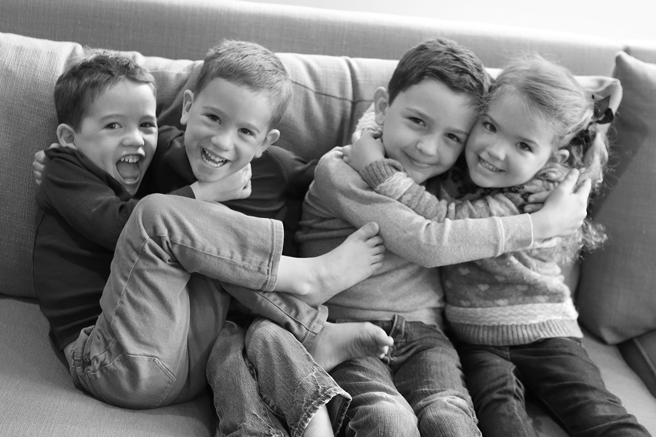 Joe, Colin, Sean & Maggie, 8 yrs, 6 yr old twins & 3 yrs