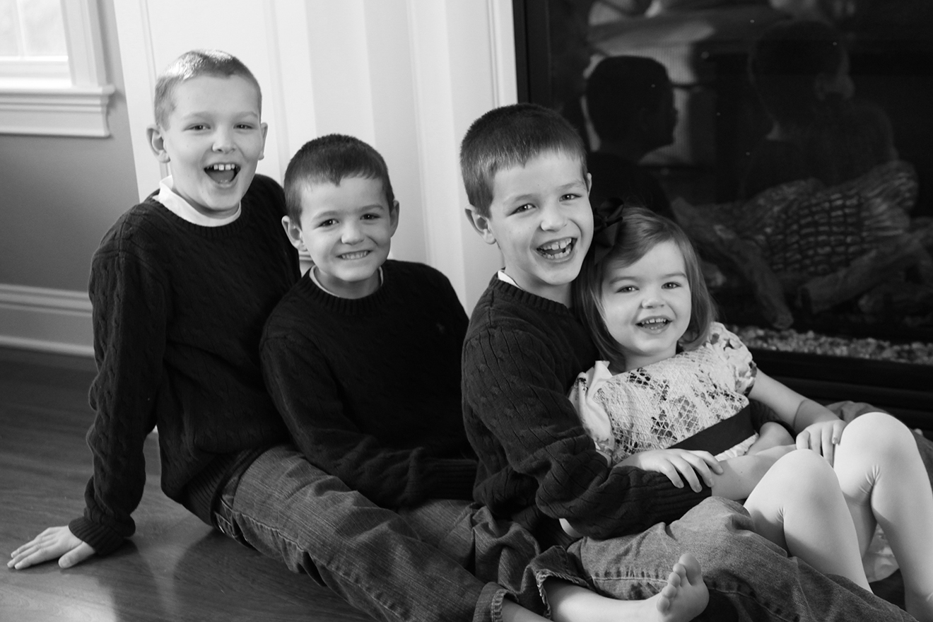 Kyle, Nolan, Griffin & Ella, 9, 8, 5 and 2 years old