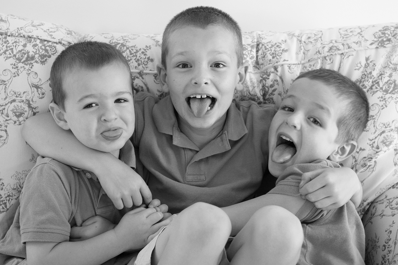 Kyle, Nolan & Griffin, 7, 5 and almost 3 years old