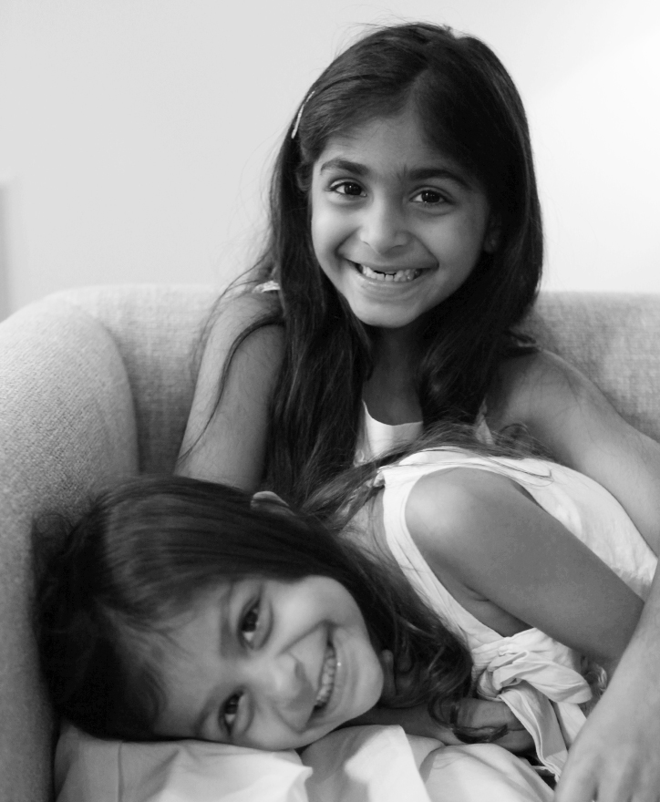 Sonia and Sarina, 6 and 2 1/2 years old