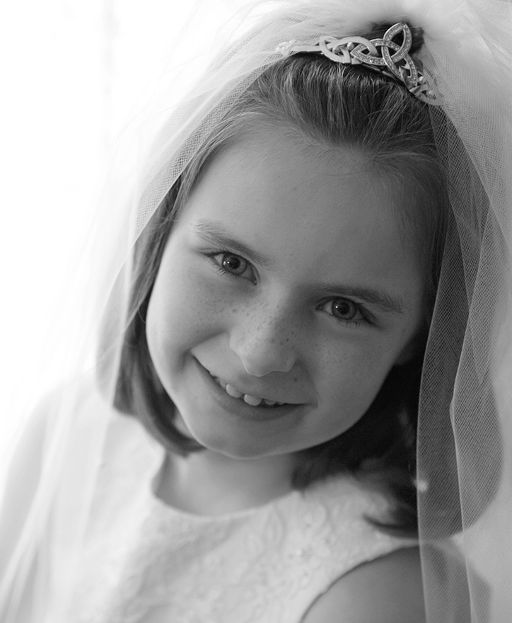 Emma's first communion, 8 years old