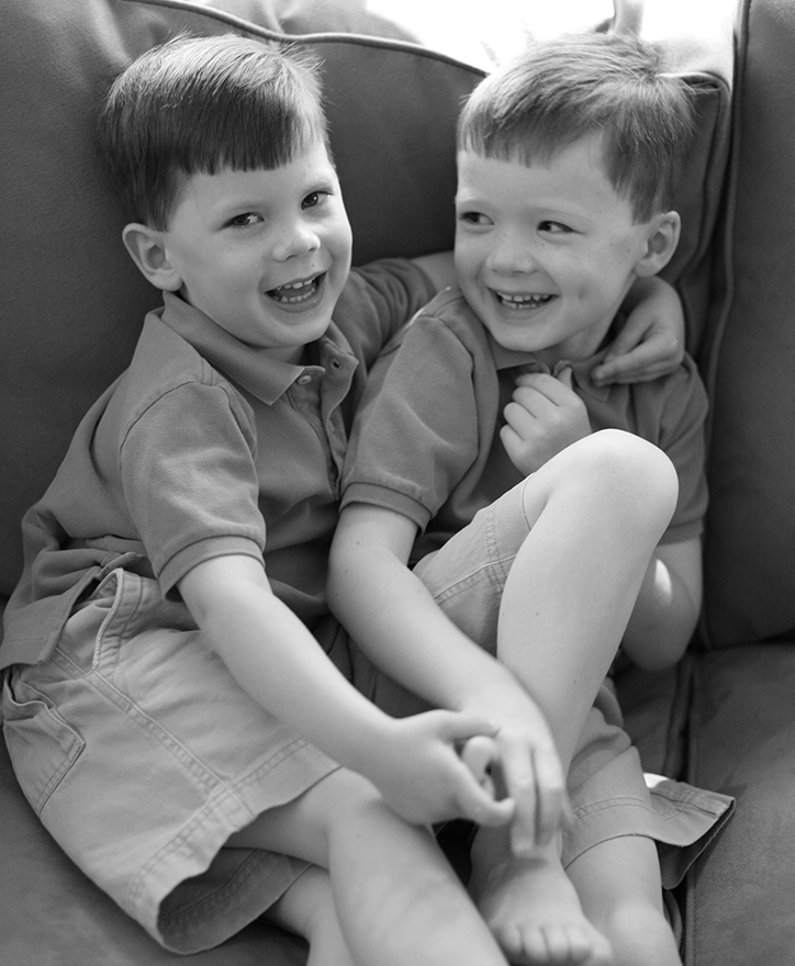 Emmett and Will, 5 1/2 and 4 years old